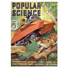 Popular Science Cover, July 1937 Poster