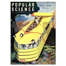 Popular Science Cover, July 1931 Poster