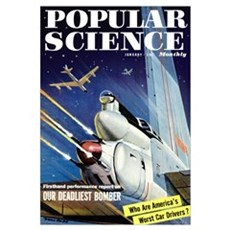 Popular Science Cover, January 1957 Poster