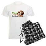 Must Love Doxies Men's Light Pajamas