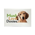 Must Love Doxies Rectangle Magnet (10 pack)