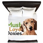 Must Love Doxies King Duvet