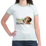Must Love Doxies Jr. Ringer T-Shirt