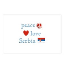 Peace Love and Serbia Postcards (Package of 8)