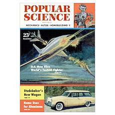 Popular Science Cover, December 1953 Poster