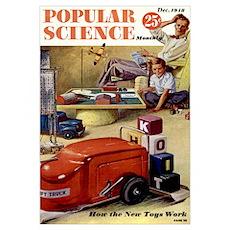 Popular Science Cover, December 1948 Poster