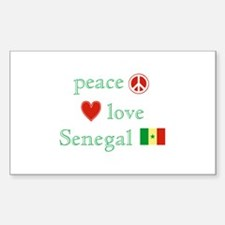 Peace Love and Senegal Decal