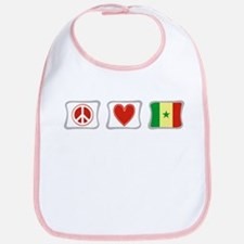 Peace Love and Senegal Bib
