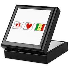 Peace Love and Senegal Keepsake Box