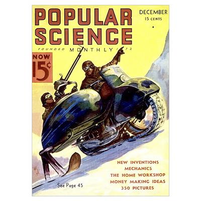 Popular Science Cover, December 1936 Poster