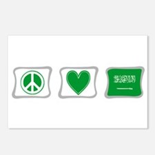 Peace Love & Saudi Arabia Postcards (Package of 8)