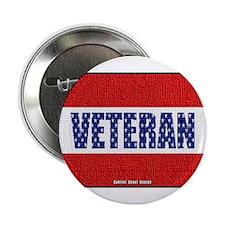 "Veteran Flag Banner 2.25"" Button"