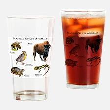 Kansas State Animals Drinking Glass