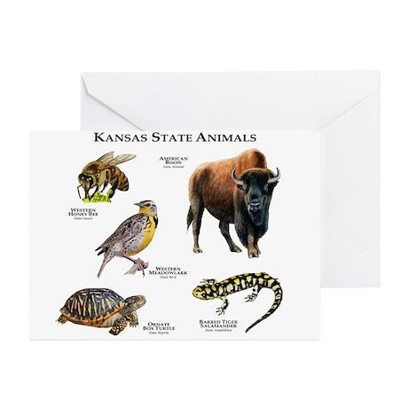 Kansas State Animals Greeting Cards (Pk of 10)