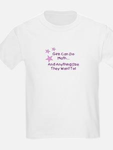 Girls Can Do Math Kids T-Shirt