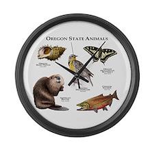 Oregon State Animals Large Wall Clock