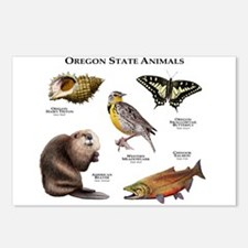 Oregon State Animals Postcards (Package of 8)