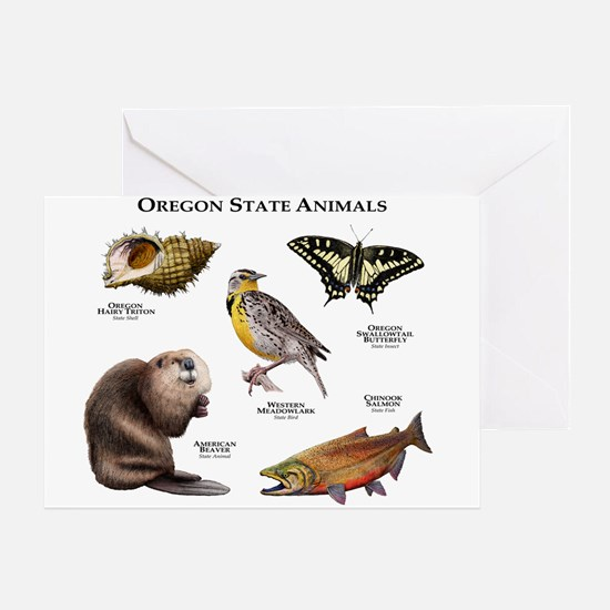 Oregon State Animals Greeting Card