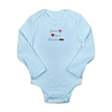 Peace Love and Russia Long Sleeve Infant Bodysuit