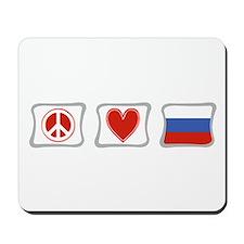 Peace Love and Russia Mousepad