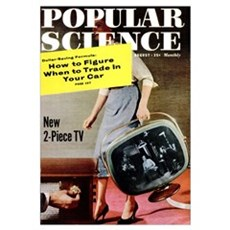 Popular Science Cover, August 1958 Poster