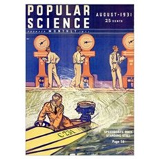 Popular Science Cover, August 1931 Poster