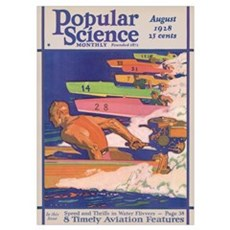Popular Science Cover, August 1928 Poster