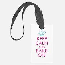 Keep Calm and Bake On Luggage Tag