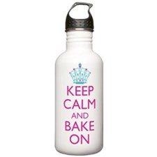 Keep Calm and Bake On Water Bottle