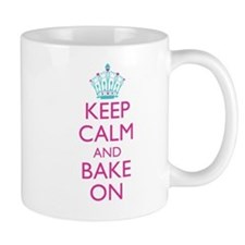Keep Calm and Bake On Small Mugs