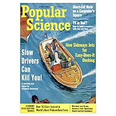 Popular Science Cover, April 1963 Poster
