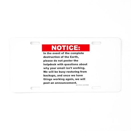 Email Aluminum License Plate