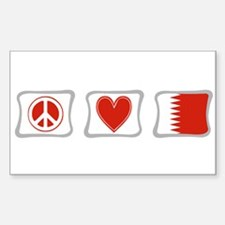 Peace Love and Qatar Decal