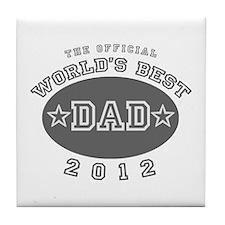 Official World's Best Dad 201 Tile Coaster