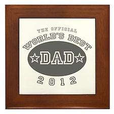 Official World's Best Dad 201 Framed Tile