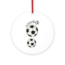 Soccer Ball Footprint Ornament (Round)