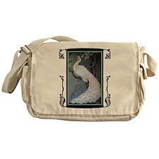 White Peacock Messenger Bag