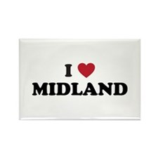I love Midland Texas Rectangle Magnet