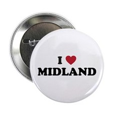"I love Midland Texas 2.25"" Button"