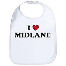 I love Midland Texas Bib