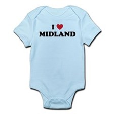 I love Midland Texas Infant Bodysuit