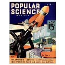 Popular Science Cover, April 1936 Canvas Art