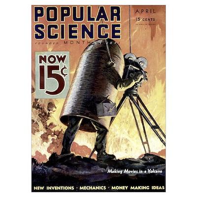 Popular Science Cover, April 1933 Poster