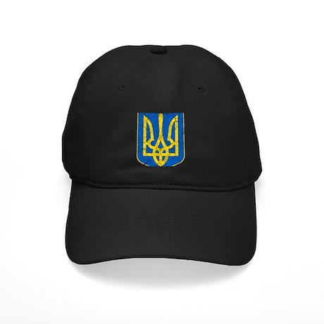 Ukraine Lesser Coat Of Arms Black Cap