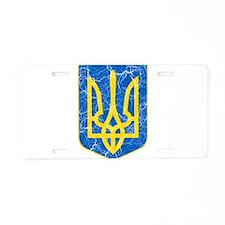 Ukraine Lesser Coat Of Arms Aluminum License Plate