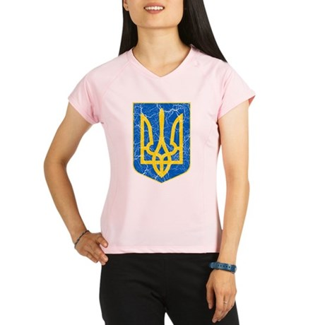 Ukraine Lesser Coat Of Arms Performance Dry T-Shir