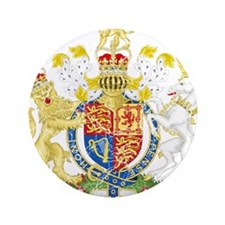 """United Kingdom Coat Of Arms 3.5"""" Button"""