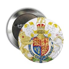 """United Kingdom Coat Of Arms 2.25"""" Button (10 pack)"""