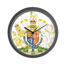 United Kingdom Coat Of Arms Wall Clock