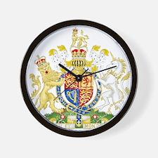 United Kingdom Coat Of Arms Wall Clock